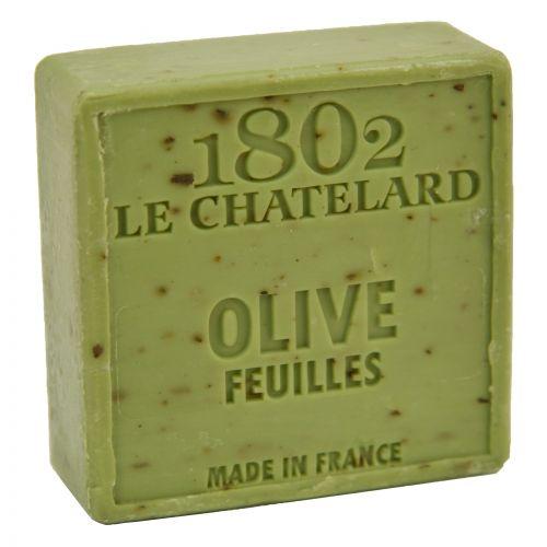LE CHATELARD / Marseillské mydlo s peelingom 100 g štvorec - oliva kvet