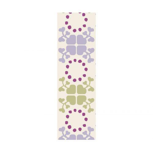 Maileg / Bavlnená stuha Clover green/purple