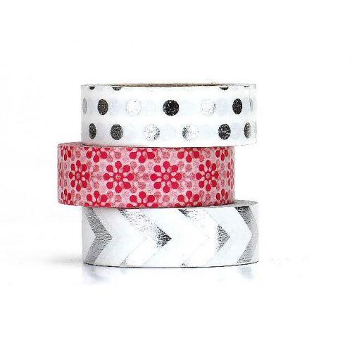 TAFELGUT / Washi páska Silver/red