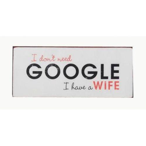 La finesse / Plechová ceduľa Google
