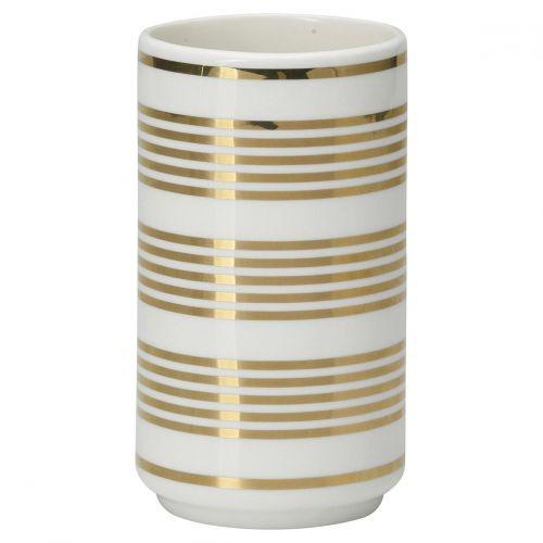 GREEN GATE / Keramická váza Stripe Gold