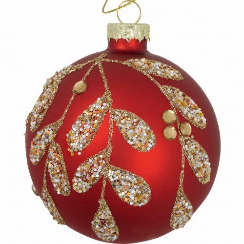 GREEN GATE / Sklenená vianočná ozdoba Charline Red 8 cm