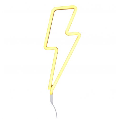 A Little Lovely Company / Neónové LED svetlo Lightning bolt Yellow