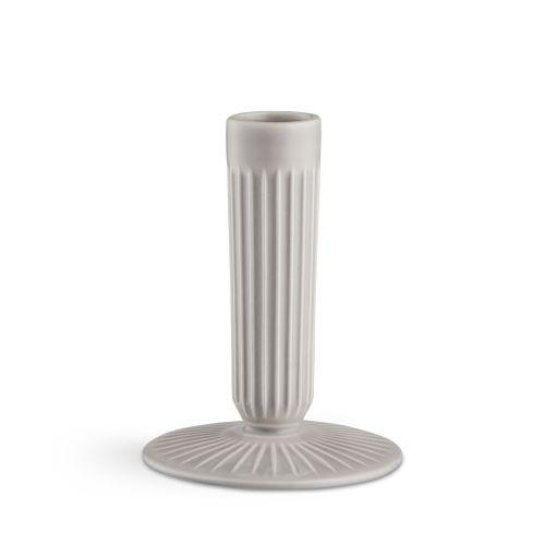 KÄHLER / Keramický svietnik Hammershøi Light Grey 12,5 cm