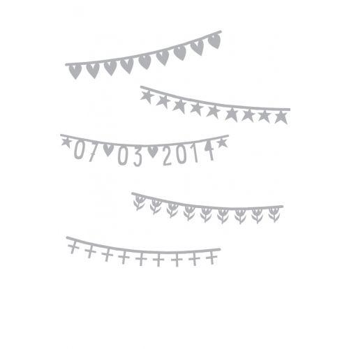 A Little Lovely Company / Papírová girlanda Letter Banner Silver