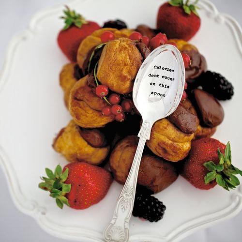 La de da! Living / Postriebrená dezertná lyžica Calories Don't Count