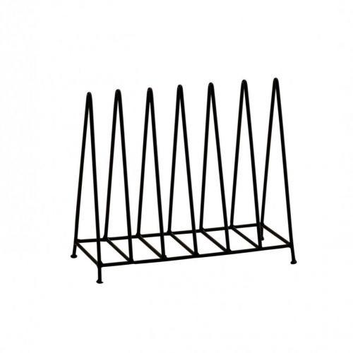MADAM STOLTZ / Kovový stojan na časopisy Black Rack