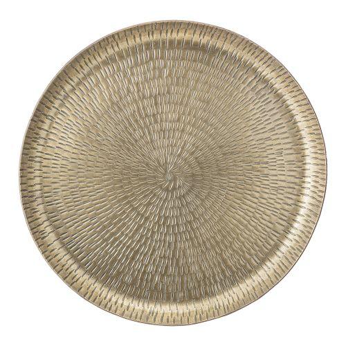 Bloomingville / Kovová tácka Aluminum Brass Ø 32cm