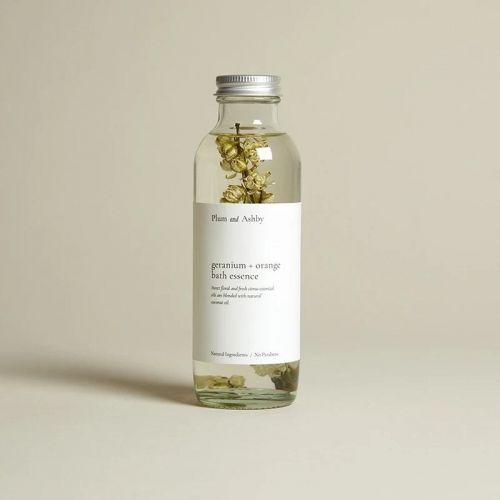 PLUM & ASHBY / Kúpeľová esencia Geranium & Sweet Orange 225ml