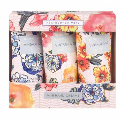 HEATHCOTE & IVORY / Darčeková sada mini krémov na ruky Patterns & Petals