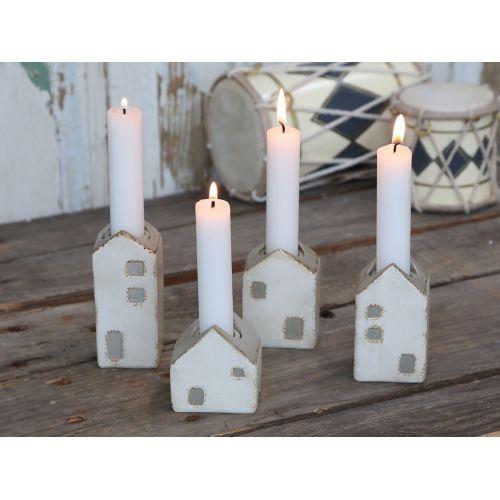 Chic Antique / Adventné svietniky Candlestick Houses set 4 ks