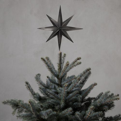 House Doctor / Vánoční hvězda na stromeček Gunmetal 31 cm