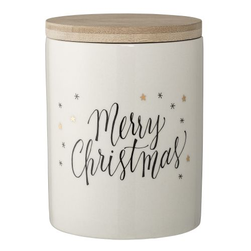 Bloomingville / Keramická dóza Merry Christmas