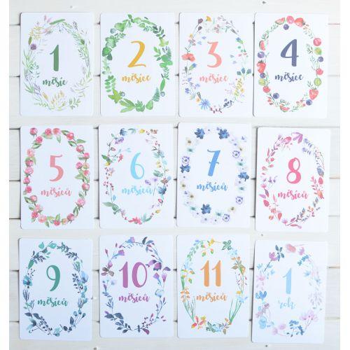 MANKAI Paper / Míľnikové kartičky pre bábätká 1 - 12 mesiacov