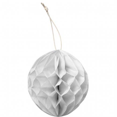 Bloomingville / Papírová koule Christmas - bílá
