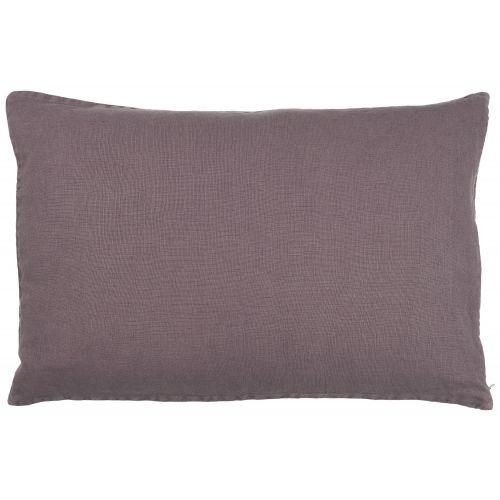 IB LAURSEN / Ľanová obliečka na vankúš Purple 60x40cm