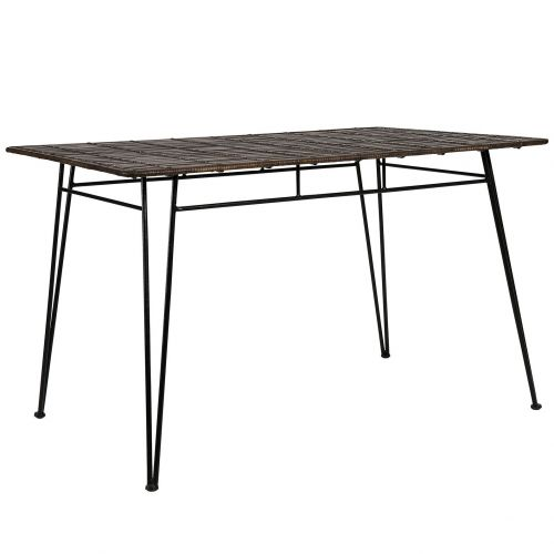 CÔTÉ TABLE / Záhradný stôl Noir Iron Table 120 x 80 cm