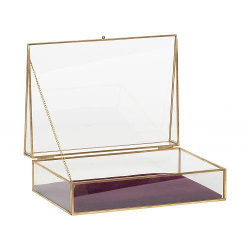 Hübsch / Sklenený box Velvet Purple