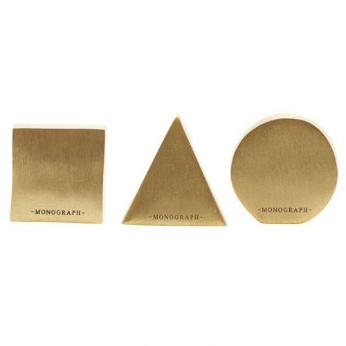 MONOGRAPH / Stojanček na menovku Geometric Brass