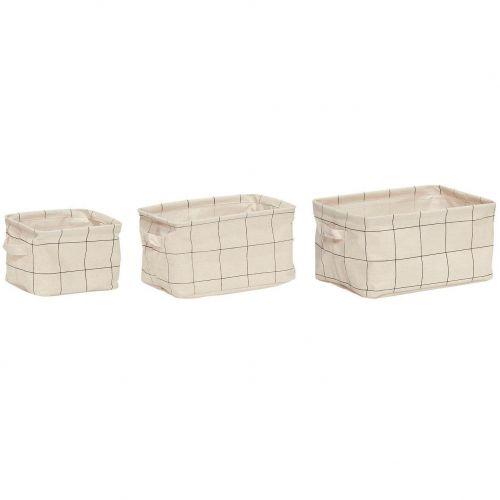 Hübsch / Úložné košíky Squares - set 3ks