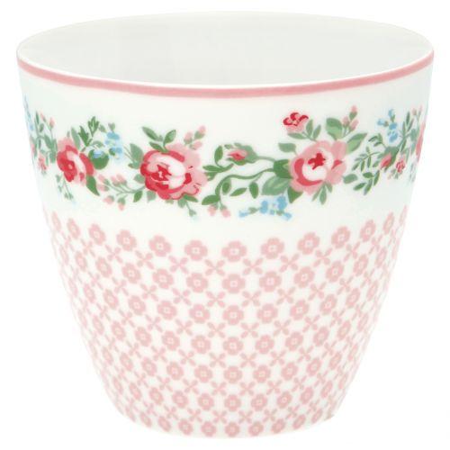 GREEN GATE / Porcelánový Latte cup Gabby White 350 ml