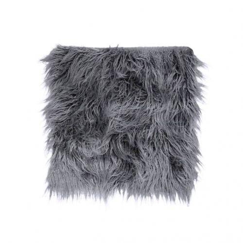 Chic Antique / Sedák z umelej kožušiny Dark Grey 40x40cm