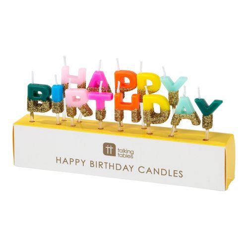 Talking Tables / Tortové sviečky Happy Birthday