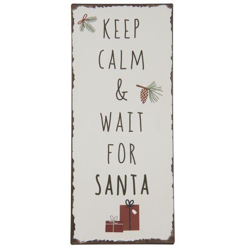 IB LAURSEN / Plechová ceduľa Keep Calm & Wait for Santa
