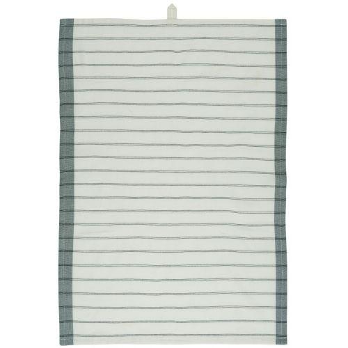 IB LAURSEN / Bavlnená utierka Green/Black Stripes