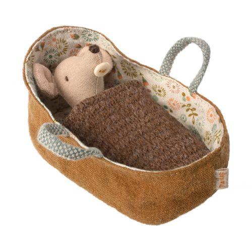 Maileg / Myšie bábätko v zavinovačke Baby mouse Brown