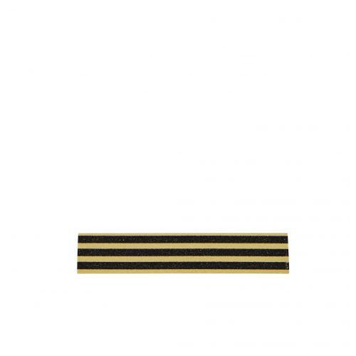 MADAM STOLTZ / Designová samolepící páska Stripes gold/black