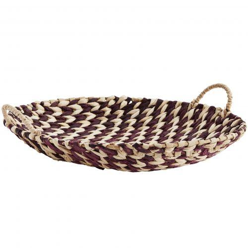 MADAM STOLTZ / Ručne pletená ošatka Paper Rope Tray Plum
