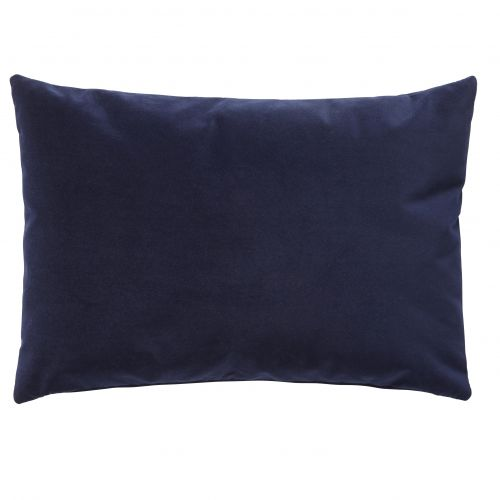 Hübsch / Velúrový vankúš Soft Blue 60x40 cm