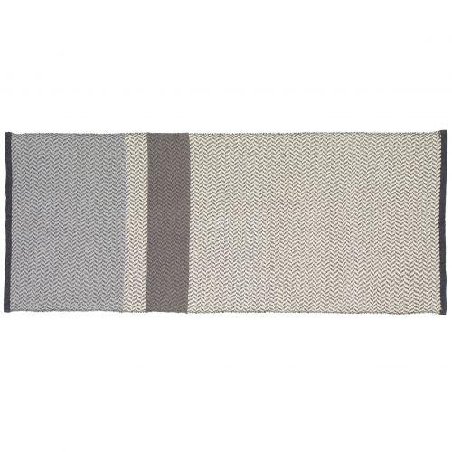 Hübsch / Vlnený koberec Grey/Off white 80x200 cm