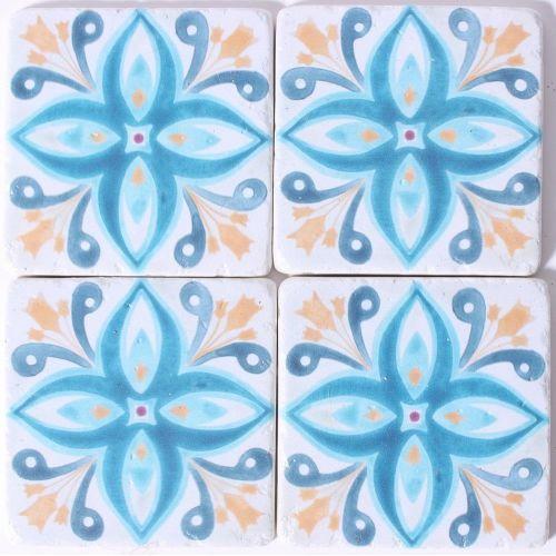 La finesse / Kamenné podtácky pod hrnčeky Blue Orchid
