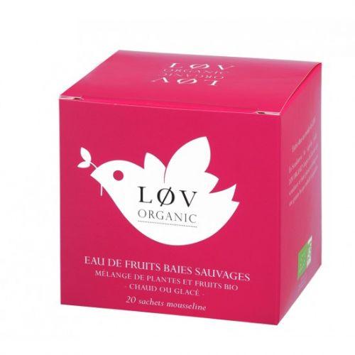 Løv Organic / Ovocný čaj Wild Berry - 20 sáčkov