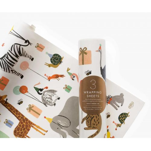 Rifle Paper Co. / Baliaci papier Party Animals - 3 listy