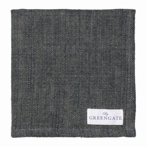 GREEN GATE / Látkový obrúsok Heavy dark grey