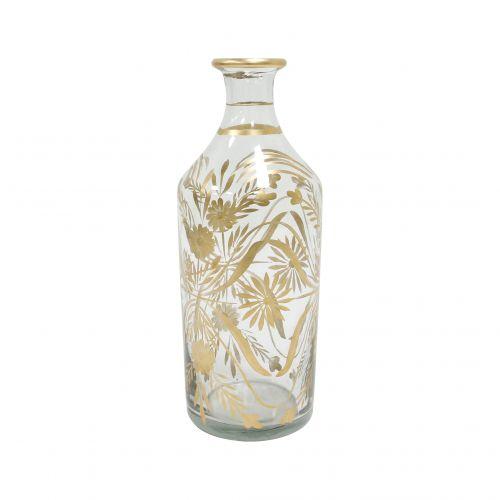 HK living / Sklenená váza Brass Flower