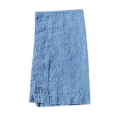 Lovely Linen / Ľanový behúň na stôl Dusty Blue