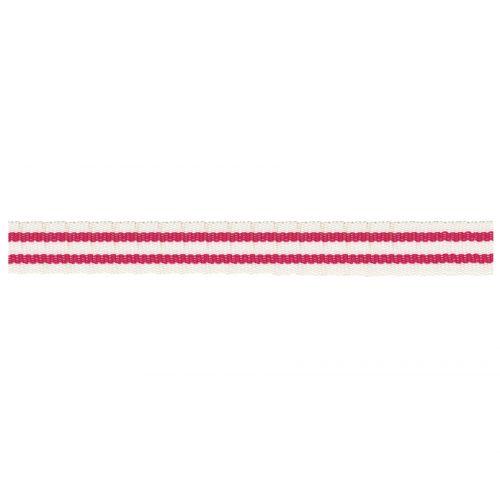 Maileg / Bavlnená stuha Double stripe Pink