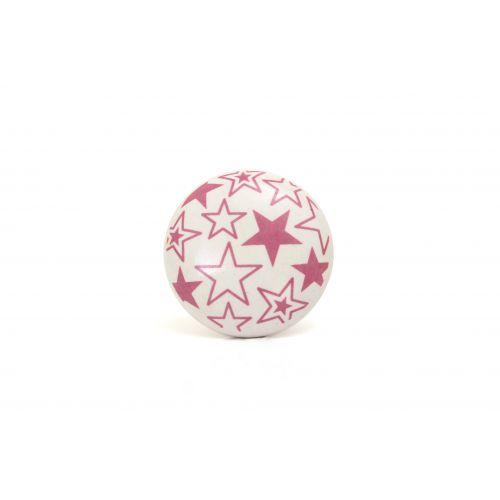 La finesse / Porcelánová úchytka Stars pink