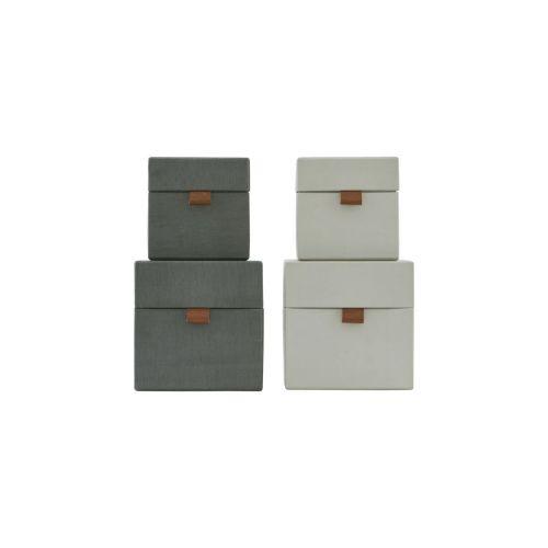 MONOGRAPH / Úložný box (kocka) Dark grey/Beige