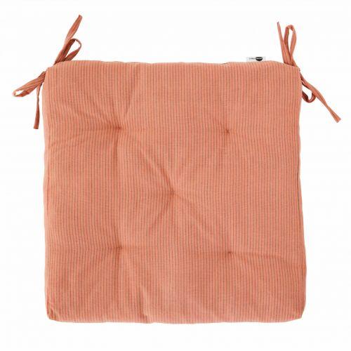 MADAM STOLTZ / Sedák na stoličku Rose Stripe 45×45 cm