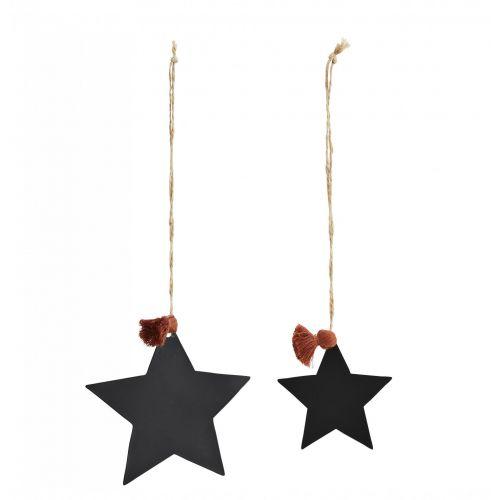 MADAM STOLTZ / Vianočné ozdoby Black Star - set 2 ks