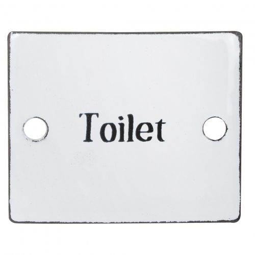 IB LAURSEN / Smaltovaná retro ceduľka Toilet