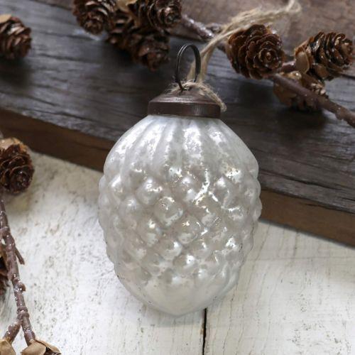 Chic Antique / Vianočná ozdoba Cone Antique White