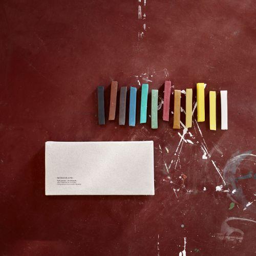MONOGRAPH / Farebné kriedy Soft pastels - 12 ks