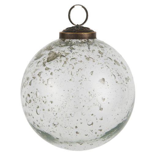 IB LAURSEN / Vianočná ozdoba Pebbled Glass Clear 9,5cm