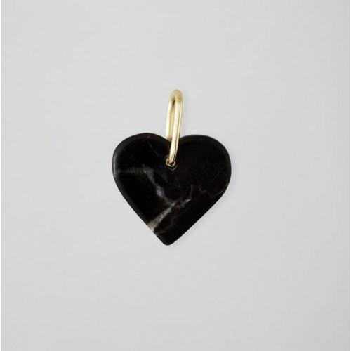 DESIGN LETTERS / Pozlátený prívesok Design Letters Black Heart